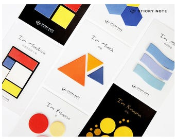 Artistic Design Sticky Notes | Memo Pads | Cute Stationery