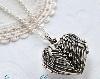 Sterling Silver Love Wings Locket