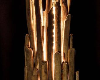 Handcrafted wooden lamp-Mod. Bonfire