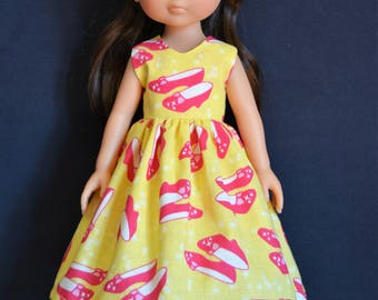 """Handmade Doll Clothes Dress fits 13"""" Corolle Les Cheries Dolls Handcraft 13"""