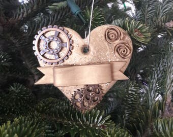 Gold Steampunk Ornament