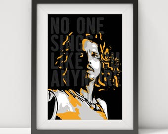 chris cornell, chris cornell poster, chris cornell art print, soundgarden, rock legend, music poster, lyric poster, quote poster, pop art