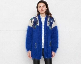 Vintage Blue Cardigan/ Size Large