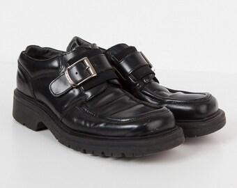 Vintage Man Wrangler Black Leather Shoes/ Size 42