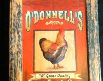 "Vintage O'Donnell's ""Farm Fresh Eggs"" Tin"