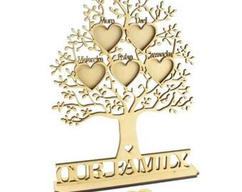 Wooden family Tree, Freestanding Family Tree, Personalised Family tree, personalised frames
