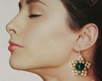 Star earrings with Murano beads