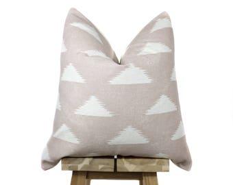 Blush and Cream Designer Pillow Cover |  'Ava'