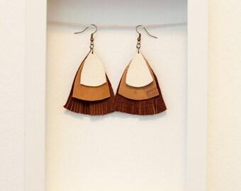 CARLOTTA Leather Earrings