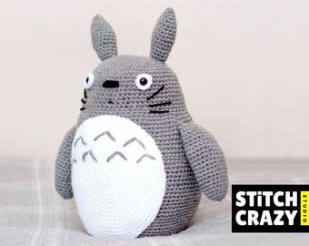 Crochet Big Totoro Plush, Totoro Toy Gift, My Neighbour Totoro, Totoro, Totoro Gift, Totoro Amigurumi Doll, Studio Ghibli, となりのトトロ, Miyazaki
