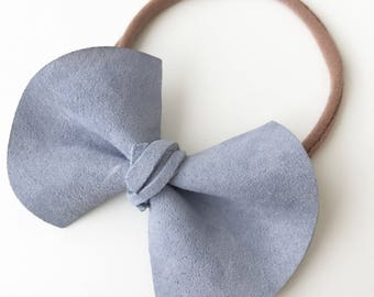 Flared Suede Bow