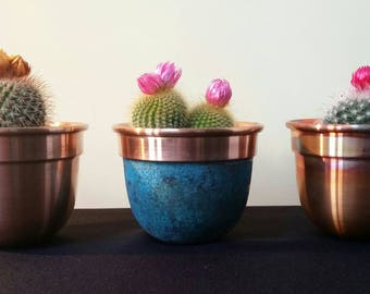 Handmade Solid Copper Plant Pot / Planter