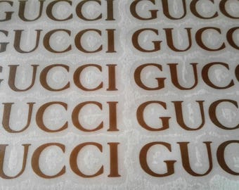10 GUCCI Stickers GUCCI Decal GUCCI Party Stickers Envelope seals Fashion Party Decor
