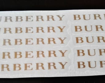 10 Burberry Stickers Burberry Stickers Burberry Decal Party Stickers Envelope seals Fashion Party Decor