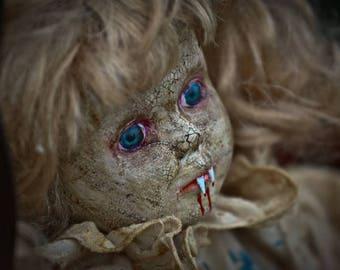 Two Vampires on the swing 56 cm creepy doll Ooak