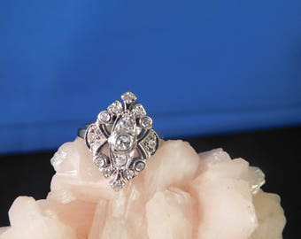 Estate Victorian Style .75 Ct. Diamond Ring 10K White Gold