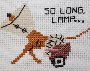 So Long, Lamp cross stitch pattern