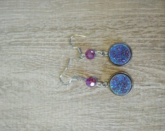 light blue stones earrings