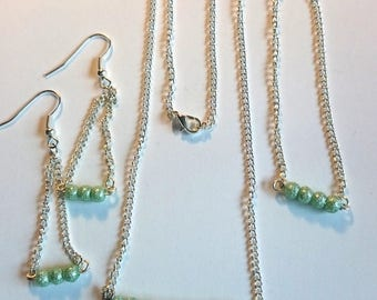 Light green Teardrop bead set