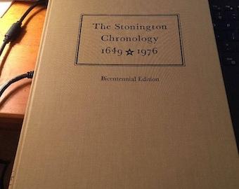 The Stonington Chronology 1649-1976 Bicentennial Edition HC vintage