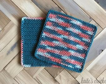 Coral Reef Dishcloths Pattern / Crochet Pattern / Dishcloths Pattern / Crochet Dishcloths