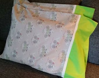 The Bicycle Pillow Case