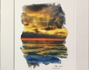 Cancun sunrise 8x10 Cardstock print