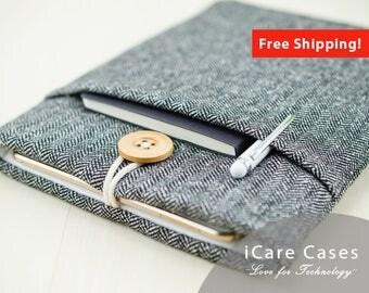MacBook Pro 13 Case MacBook Pro Touch Bar Case MacBook Pro Protective Case MacBook Pro With Touchbar Cases Mac Laptop Bag Herringbone Tweed