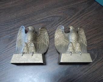 Vintage Brass Eagle Bookends