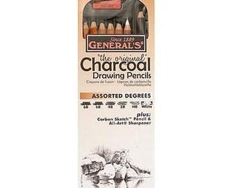 General's Charcoal Drawing Pencil Set