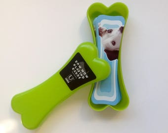 Umbra Bow Wow Playing Cards - Lime Bone Shaped Plastic Case - Jack Russell Terrier Card Backs