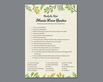 Green Movie Love Quotes Bridal Shower Games, Botanical Plants, Film Quote, Bachelorette, Wedding Shower, Famous Quotes, Leaves, Leaf, A011