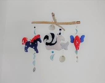 baby mobile handmade ooak upcycele