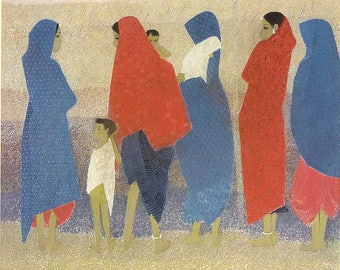 Untitled painting; N.S.Bendre (1983), oil on canvas; giclee print
