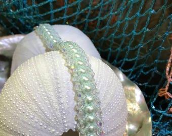 Glass pearl bracelet