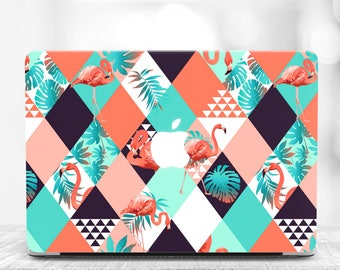 Tropical MacBook Air 13 Hard Case MacBook Air Case 13 Macbook Air Laptop Case Flamingo Macbook Pro 13 Case Geometrical Macbook Pro 2017 Case
