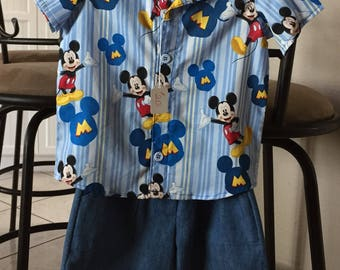 Boys Mickey Mouse Outfit Size 2