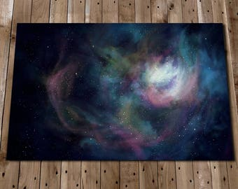 Galaxy Print - Space Painting Poster - Andromeda - Nebula Art Print - Galaxy Nebula - Space Print - Galaxy Painting - Cosmos Art Print