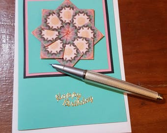 Card for a special individual lady , handwritten words to say Happy birthday to her