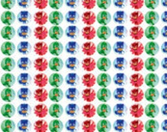 PJ Mask Fabric Cotton by the 1/2 yard and Yard