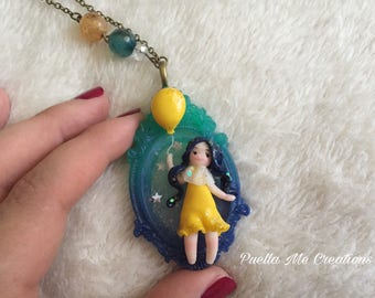 Doll polymer clay Doll necklace – Polymerclay necklace