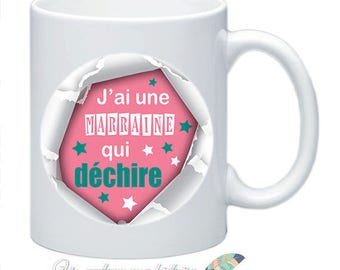 Godfather mug torn idea cadeau_illustration double sided #4