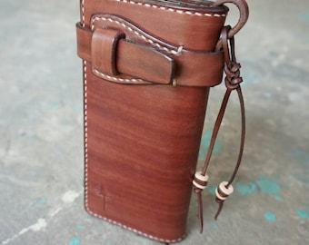 Handmade Leather,long Wallet,biker wallet,Man Wallet,vegtan leather,Gift,Chain wallet,Trucker wallet