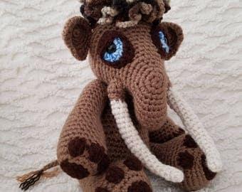 Crocheted Woolly Mammoth Amigurumi Toy **FREE SHIPPING**