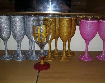Glitter glass