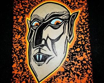 Nosferatu Original painting 8 x 10