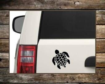 Turtle Car Decal / 12 Colors /Laptop Decals / Car Decals / Computer Decals / Window Decals