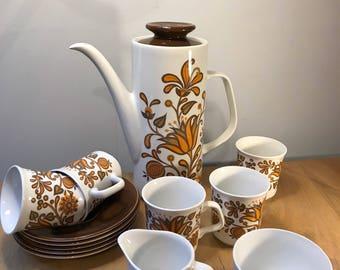 Meakin Lotus Coffee Set Designed by Jessie Tait 1960s
