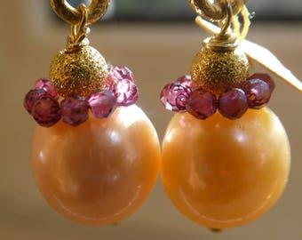 Earrings with Garnet ''Josephine''