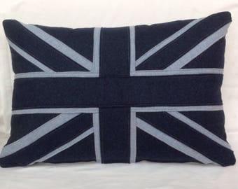 Woollen Union Jack cushion